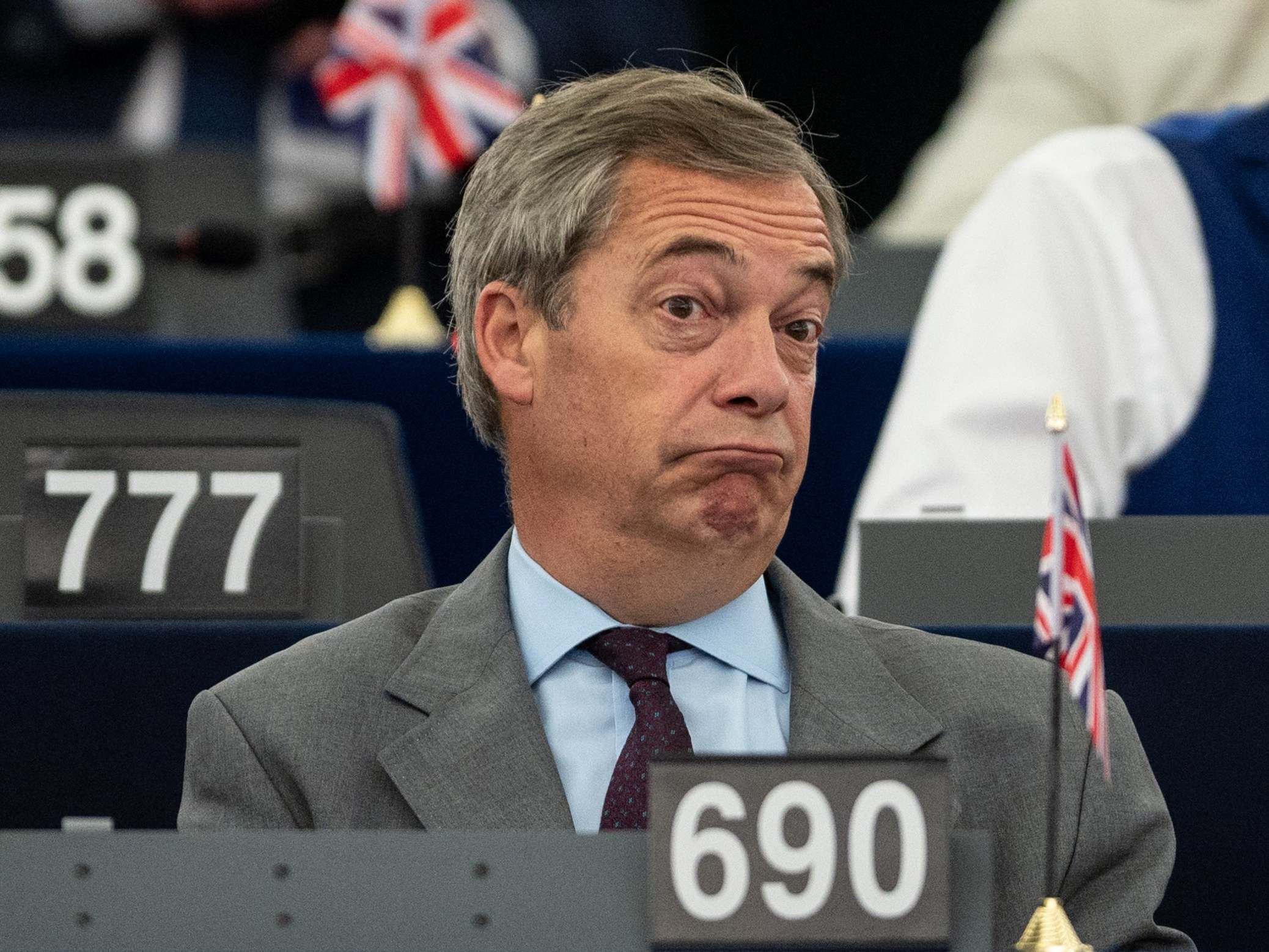 Nigel Farage complains about narrow margin of victory for new EU chi…