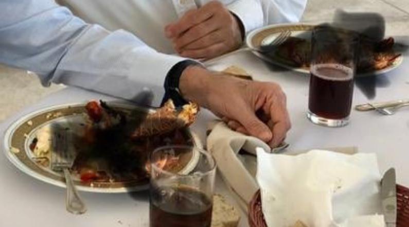 Israeli embassy blurs out ambassador's non-kosher lobster in