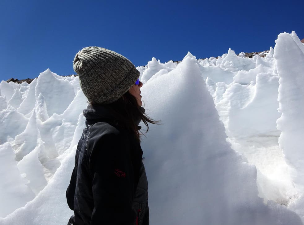Dramatic ice spires in one of the harshest environments in the world are home to algae, scientists have discovered