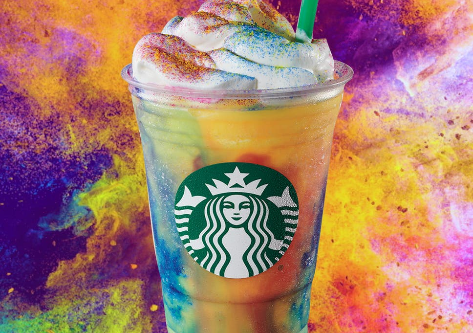 Starbucks launches 'tie-dye frappuccino' inspired by retro