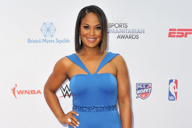Laila Ali attends the 5th annual Sports Humanitarian Awards presented by ESPN at The Novo Theater at L.A. Live on July 09, 2019 in Los Angeles, California