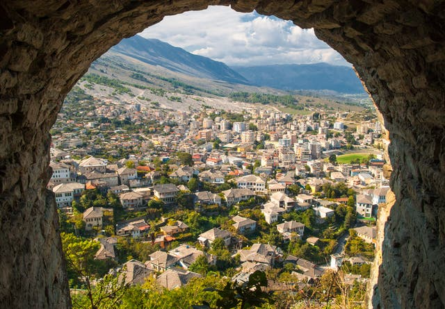 Looking out over the Old Town from the castle, Gjirokaster is a mountainous marvel