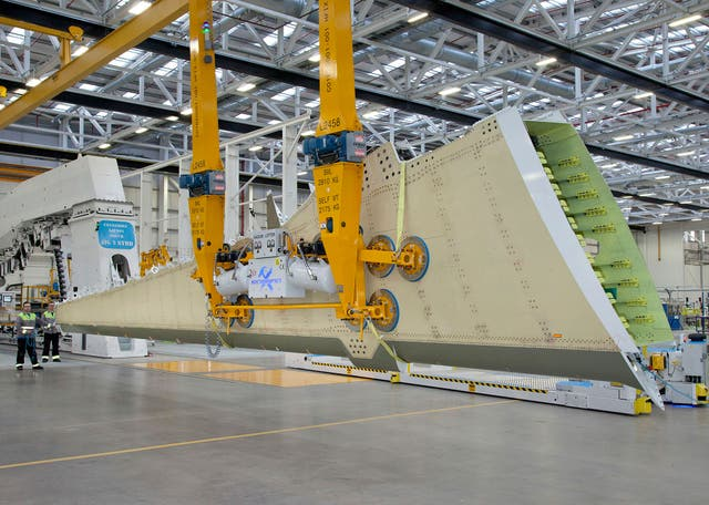 Bombardier's composite wings were first used in 2013 and are made using a process called resin transfer infusion
