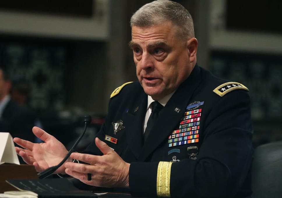 Trump's US military chief nominee General Mark Milley vows not to be