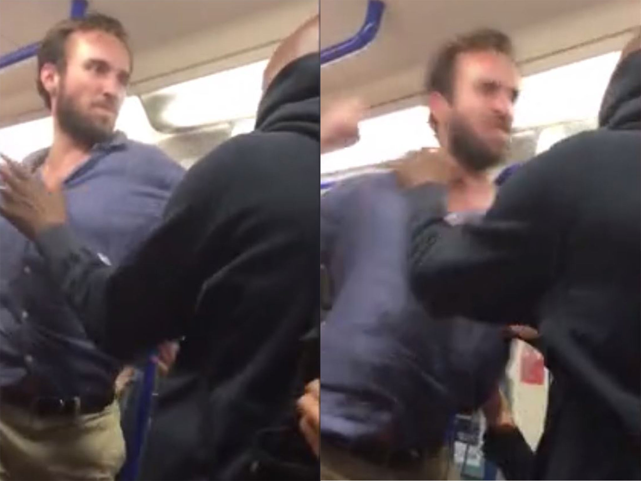 Police launch hunt for 'posh man travelling with mother' who punched fellow Tube passenger
