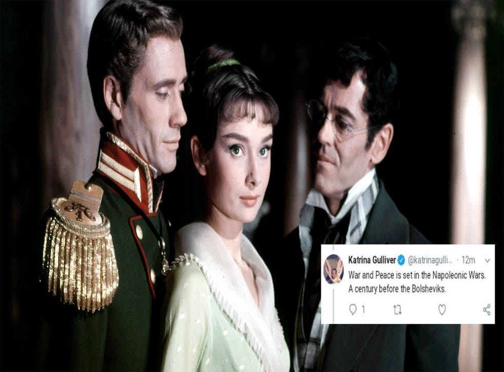 Paramount's classic 1956 adaptation of War and Peace and the killer tweet