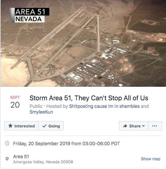 Storm Area 51: More than 600,000 people sign up to raid secretive