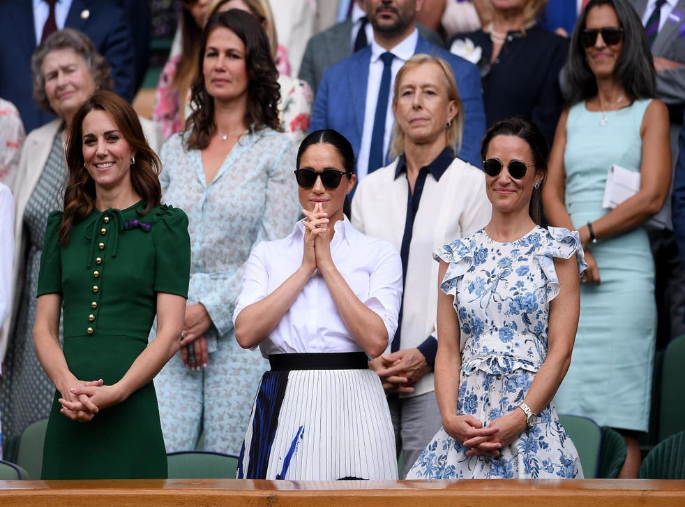 Meghan Markle and Kate Middleton at Wimbledon together (Getty)