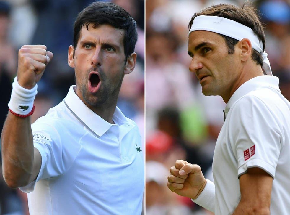The Wimbledon men's final pits Roger Federer against Novak Djokovic