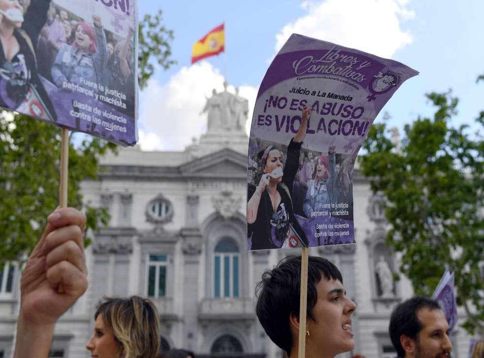 A women's rights activist based in Barcelona says she thinks the rise in sexual attacks carried out by multiple attackers is linked to more people feeling able to report sexual violence to the police