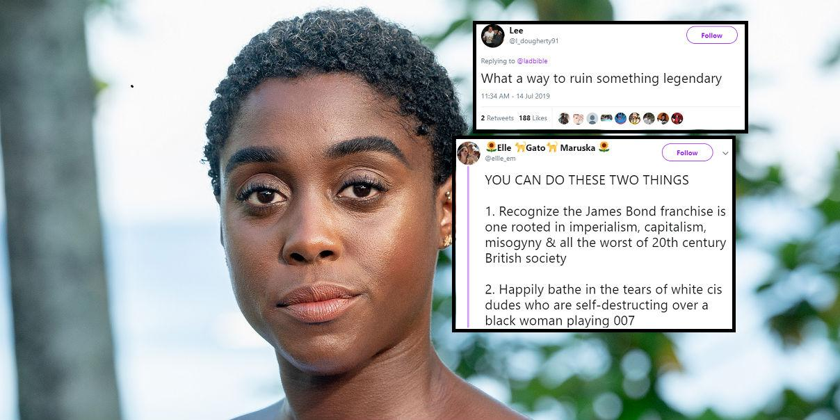 A black female actress is taking on the role of 007 and men are seri…