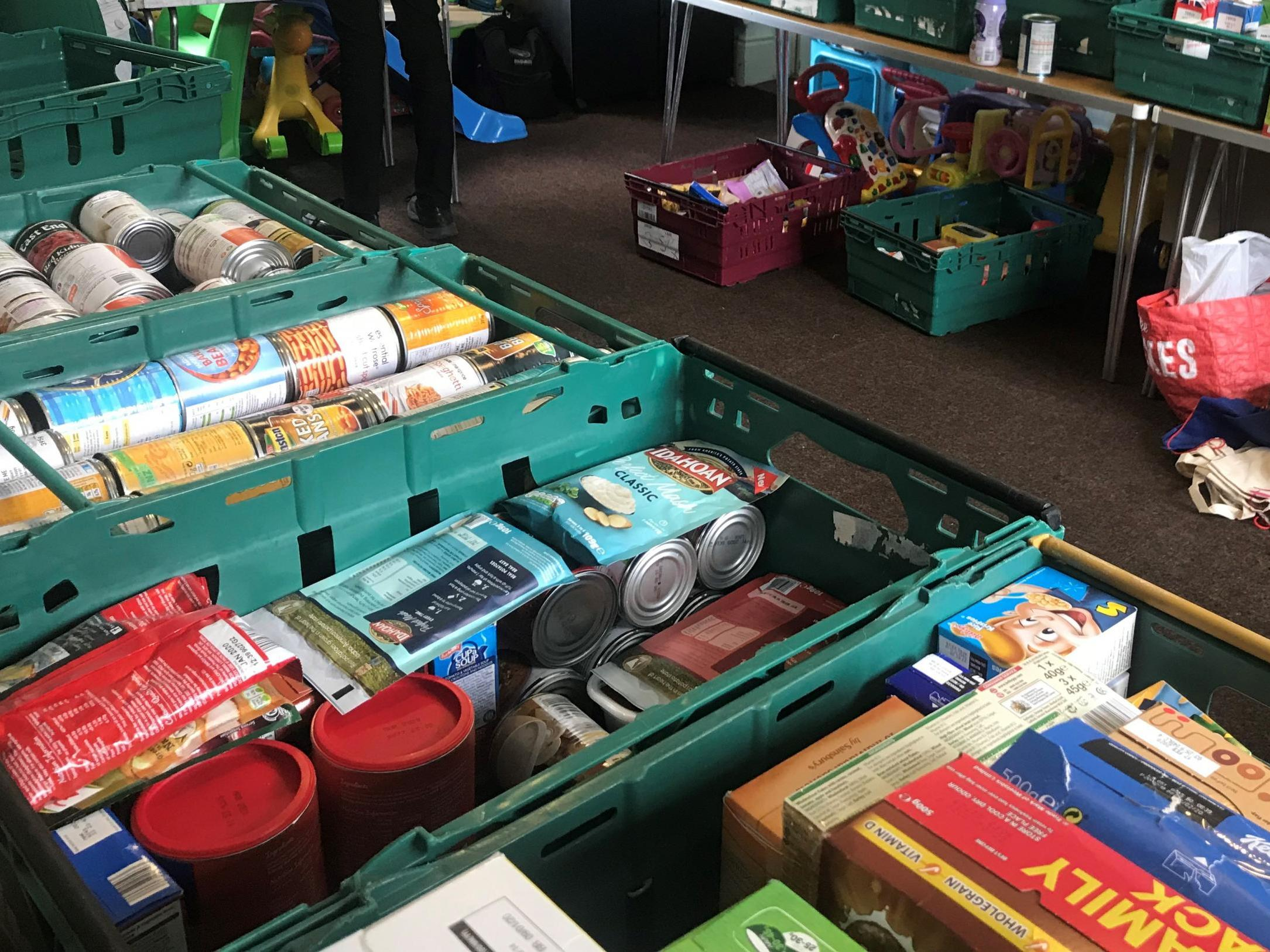 Food bank use among children over school holidays surges by 20% in a year, figures show