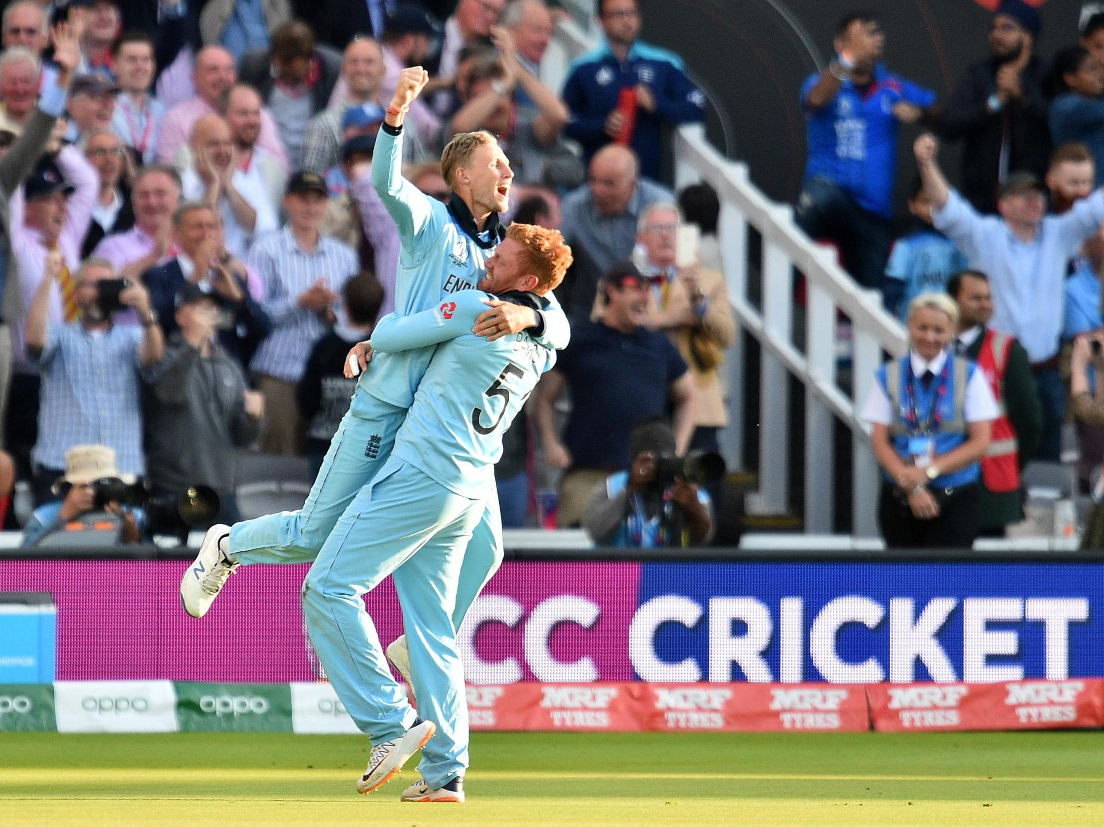 Joe Root and Jonny Bairstow revel in England's 'ridiculous' World Cup glory