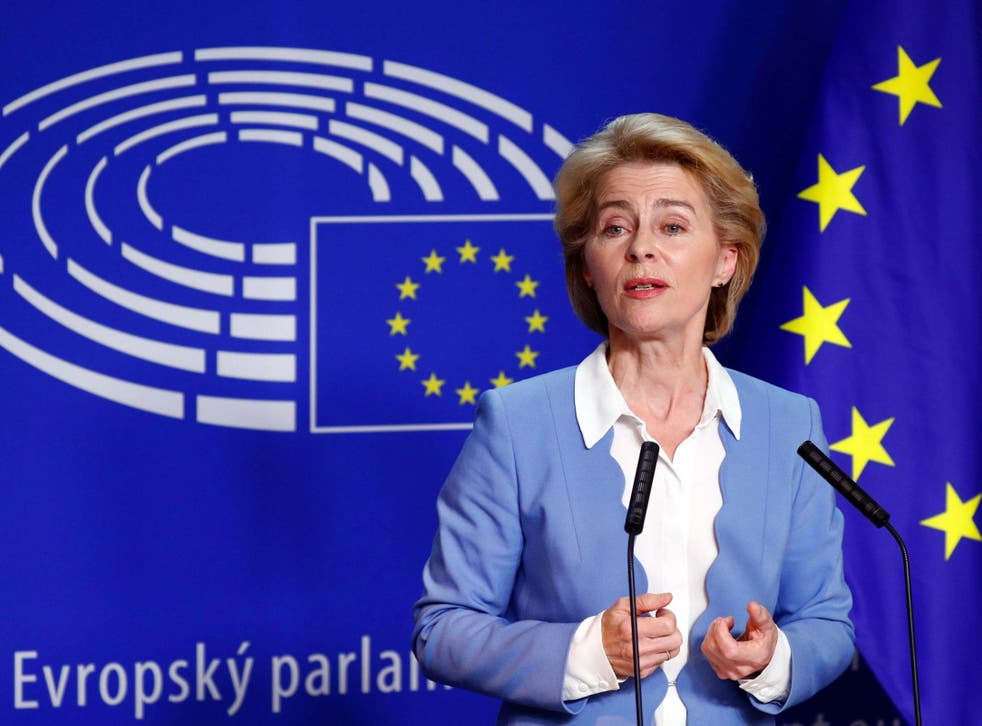 Ursula von der Leyen said she would consider extending the Brexit deadline
