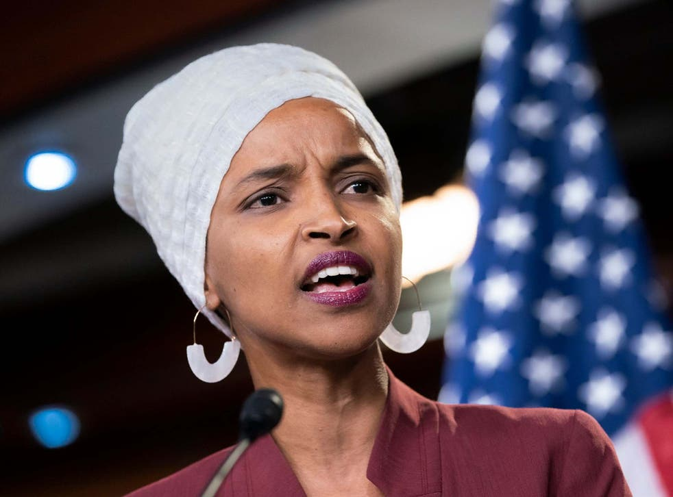 Ilhan Omar was one of the Democrats who appeared alongside Benji Backer at the hearing