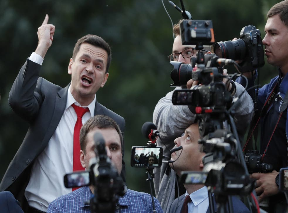 Opposition politician Ilya Yashin is one of several ruled ineligible in September's city elections