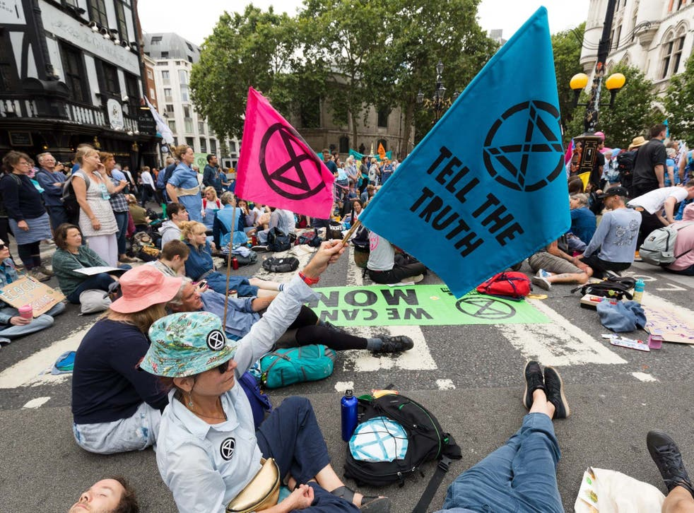 The blockade of the concrete works comes a day after activists demonstrated outside the Royal Courts of Justice