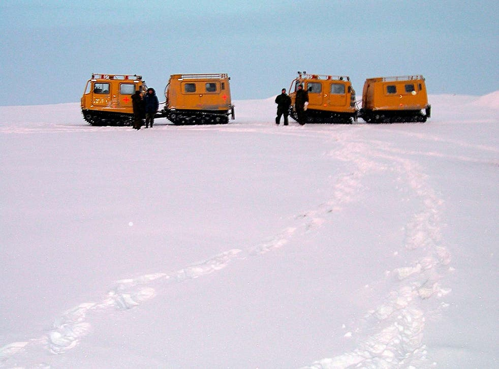 Alert in happier times, when Canadian armed forces personnel stationed at the remote settlement explored the icy landscape