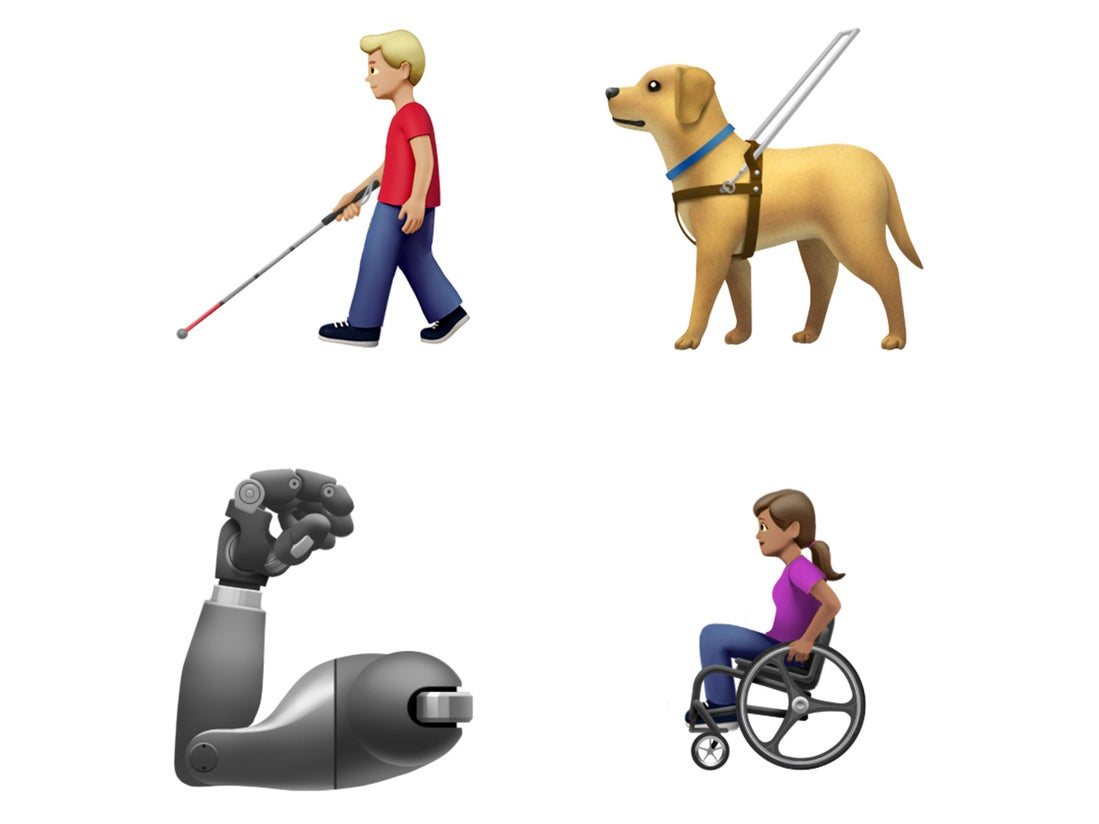 Apple praised for new disability-themed emoji, including a wheelchai…