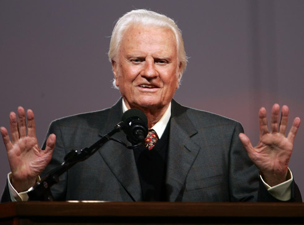 Governors say the subscribe to the 'Billy Graham rule' (pictured) of not meeting women in public for fear of misconduct accusations