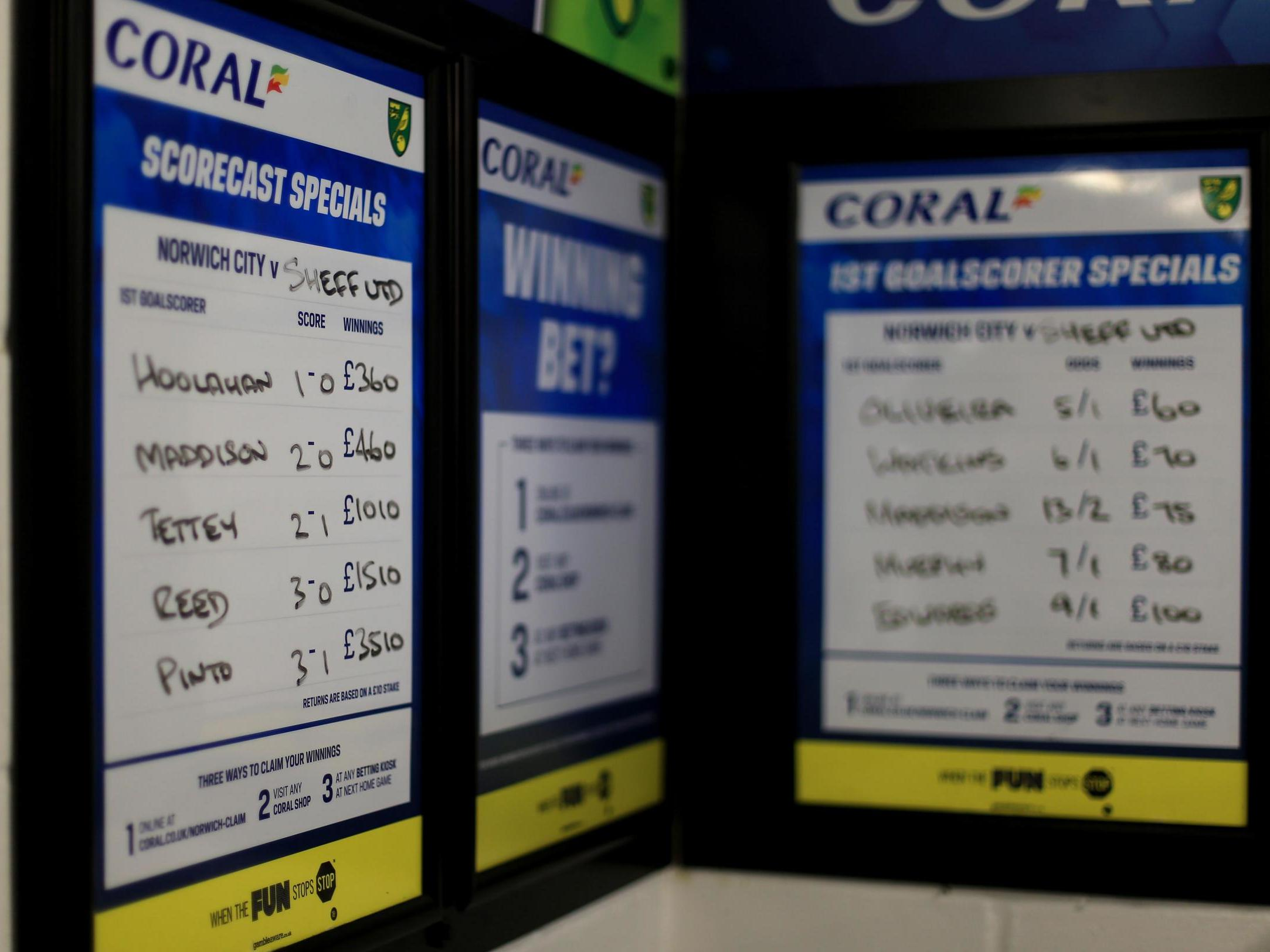 Football itself is addicted to money from the betting industry