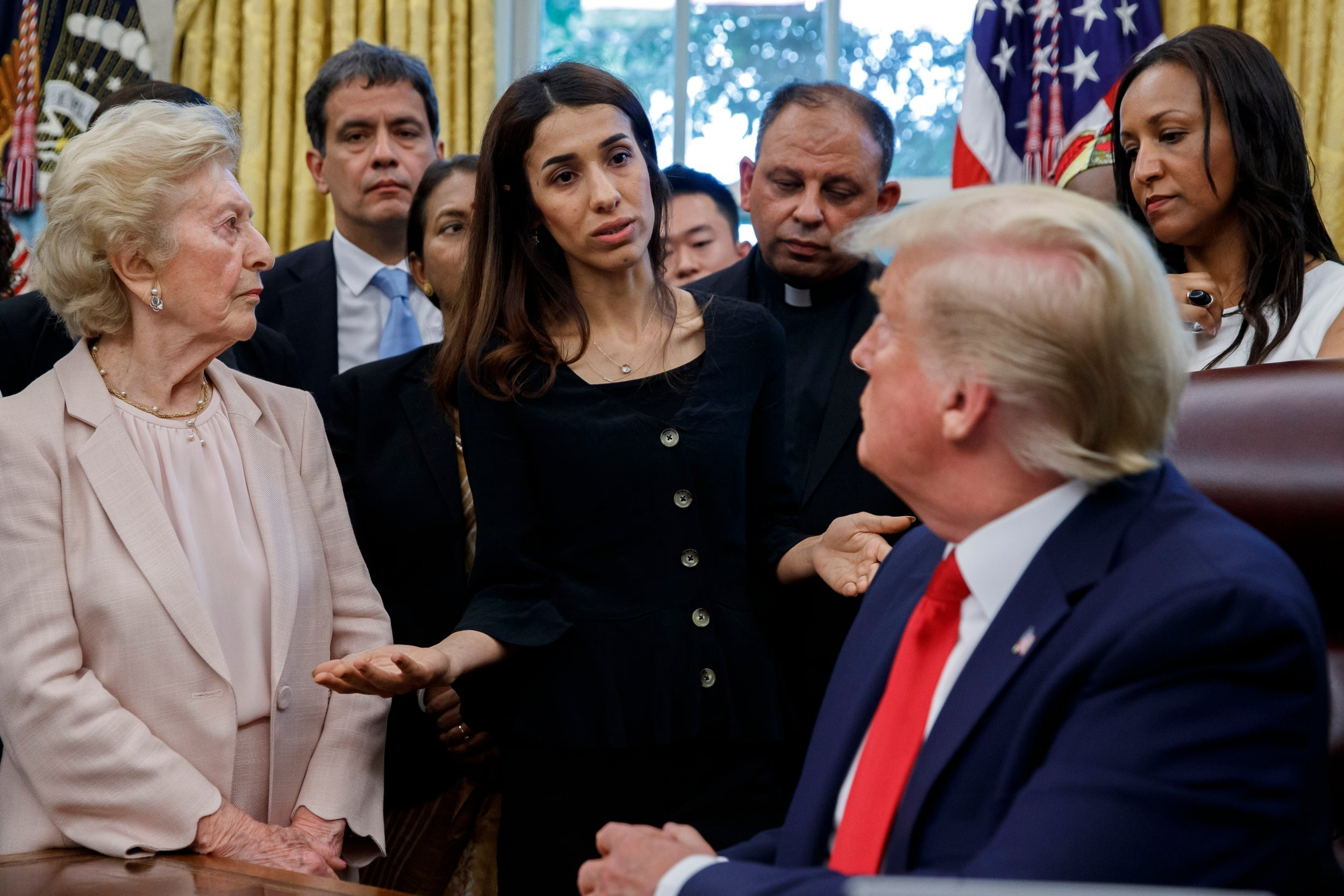 'But Isis is gone and now it's Kurdish and who?': Trump reveals ignorance of Yazidi persecution