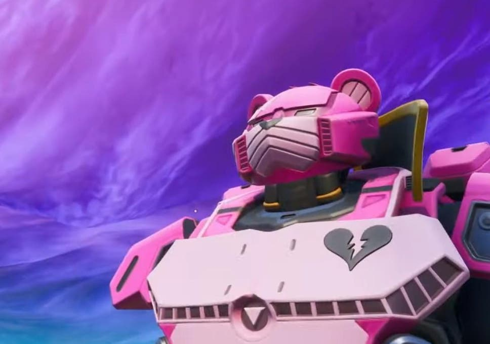Fortnite now has a giant pink robot and a mysterious