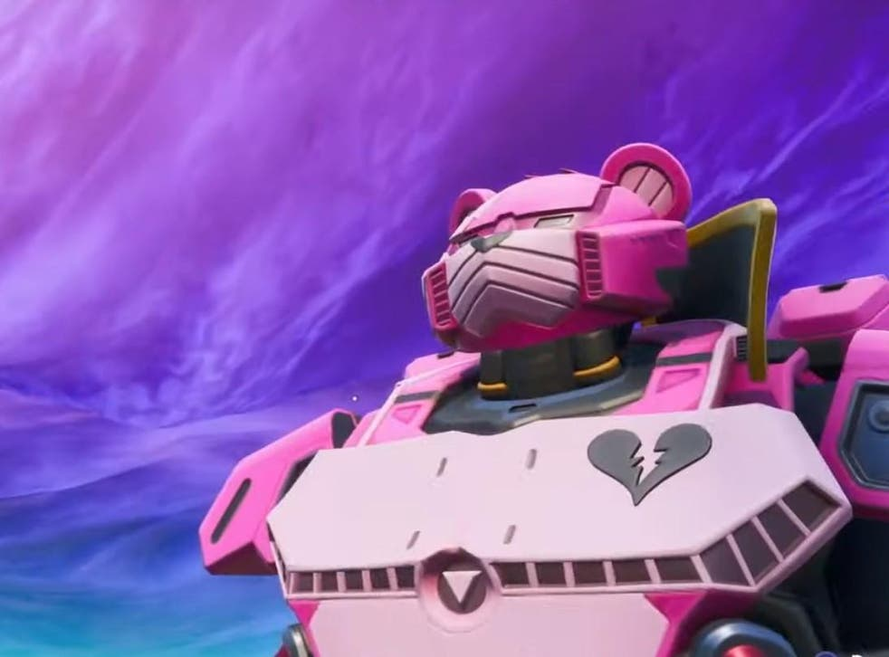 A giant pink robot and a countdown have appeared on Fortnite Island