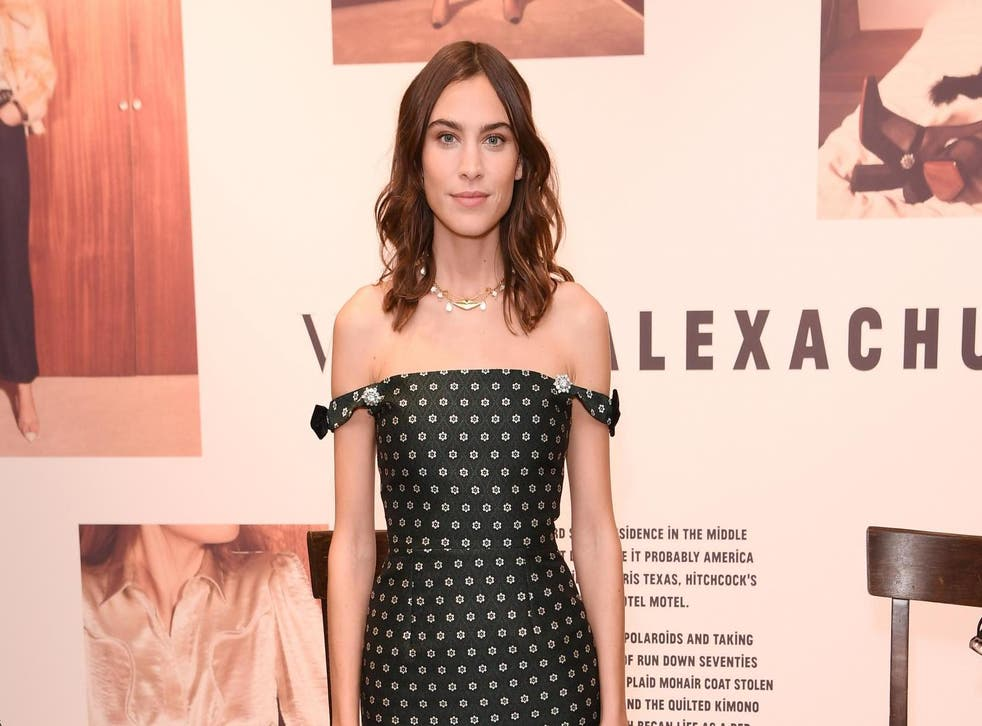 Alexa Chung attends the 'Strike A Pose - Weekend En Vogue' event at KaDeWe on October 12, 2018 in Berlin, Germany.