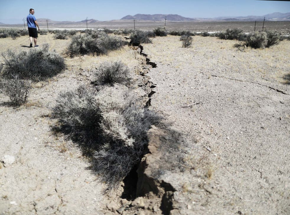 A 7.1 magnitude earthquake, which packed the energy of 45 nuclear bombs, ruptured the earth in the Mojave Desert where the Yucca Mountain nuclear waste facility is located