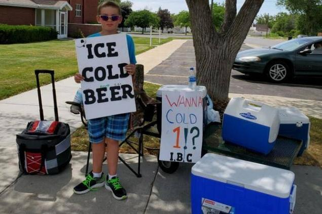 Police called over boy selling 'ice cold beer' find it was just a 'marketing strategy'