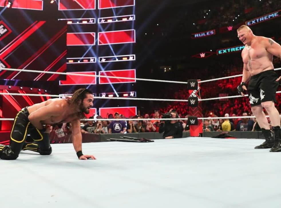 Seth Rollins and Brock Lesnar will wrestle again at Summerslam