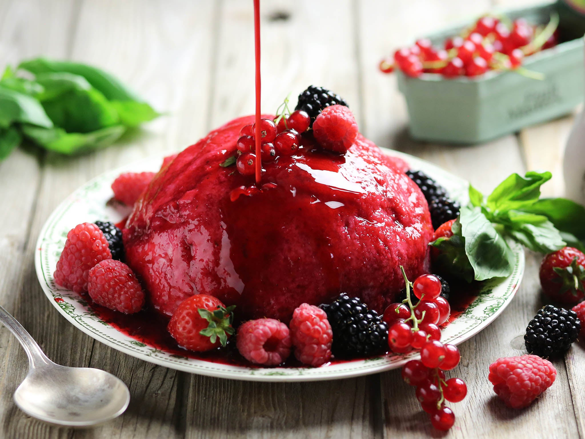 How to make Abel & Cole's summer berry and basil pudding 1