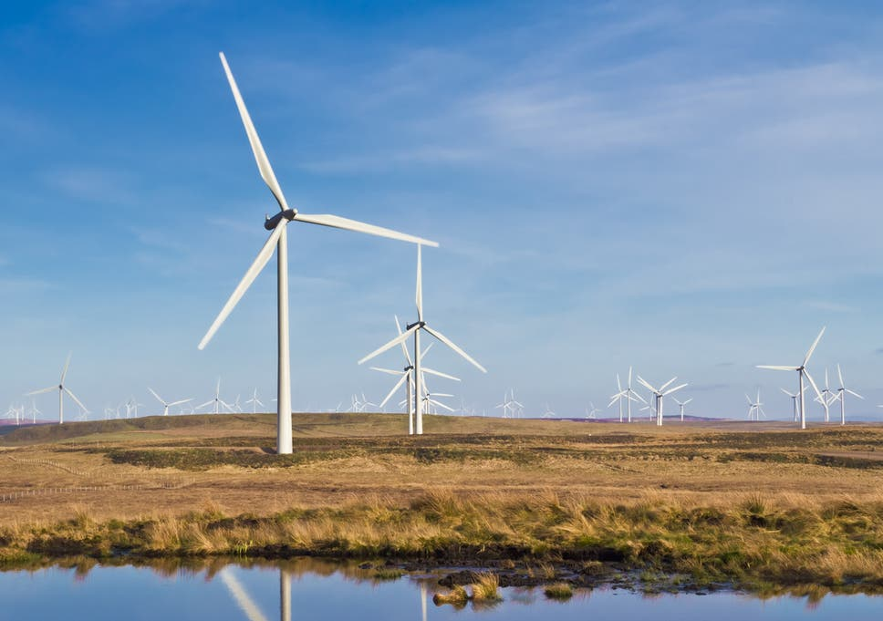 Planning applications for new on-shore wind farms plummeted by 94 per cent after the UK government changed rules in 2015