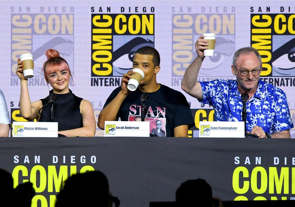 Game of Thrones cast poke fun at coffee cup gaffe at Comic-Con