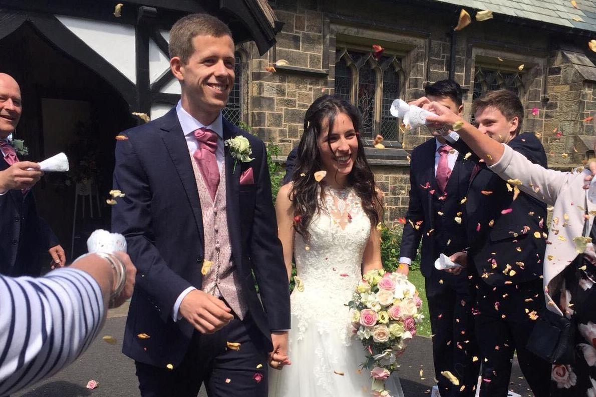 Couple born hours apart at same hospital get married, aged 23