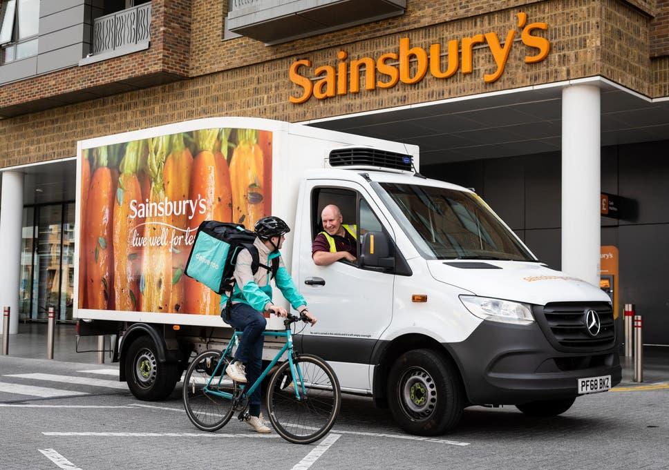 Deliveroo To Start Delivering Sainsburys Food The Independent