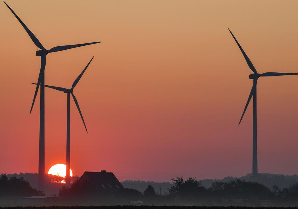 Electricity production from wind power increased by 20 per cent in Germany the first six months of 2019 compared to the same period last year