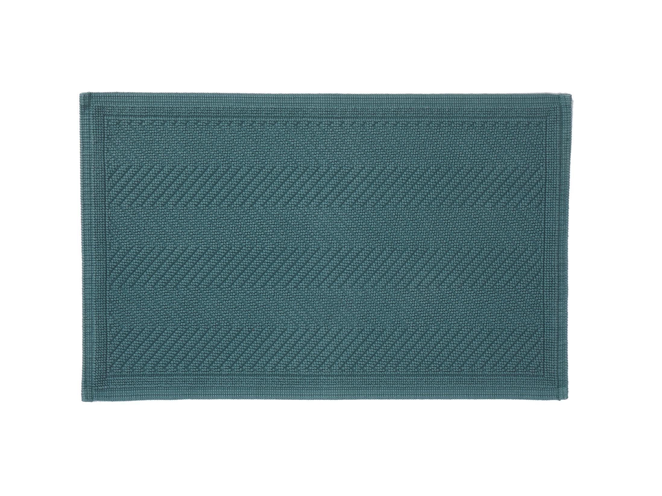 Black Color Nova Home Collection Non-Slip Safety Water Absorbent Soft 3 Pieces Plush Bath Mat Floor Mat Set