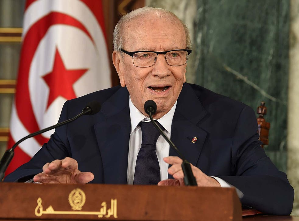 Tunisia's first democratically elected president died inside a military hospital in the capital at the age of 92 on Thursday