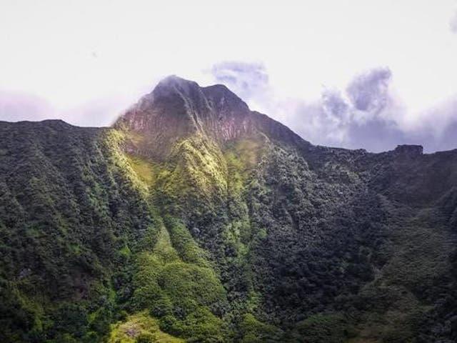 Mount Liamuiga, on St Kitts
