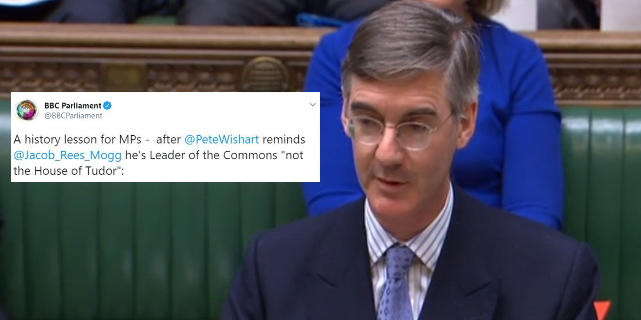 Jacob Rees-Mogg: House of Commons leader gives Tudor history