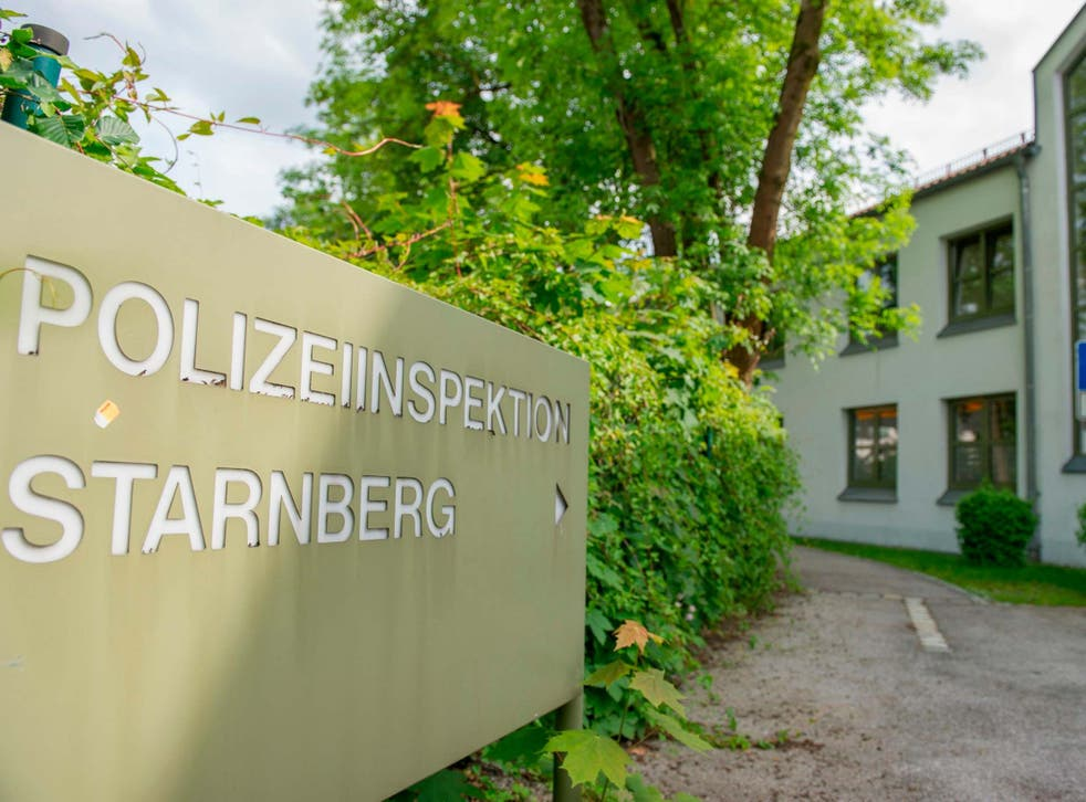 The police station in Starnberg, near Munich, where the teen was taken after his arrest