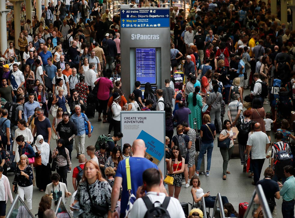 Commuter chaos at St Pancras on Friday after overhead lines came down