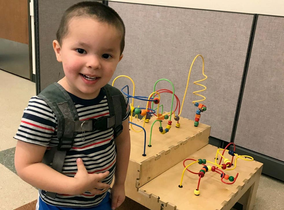 This undated photo provided by the FBI shows two-year-old Aiden Salcido who remains missing after his parents died.