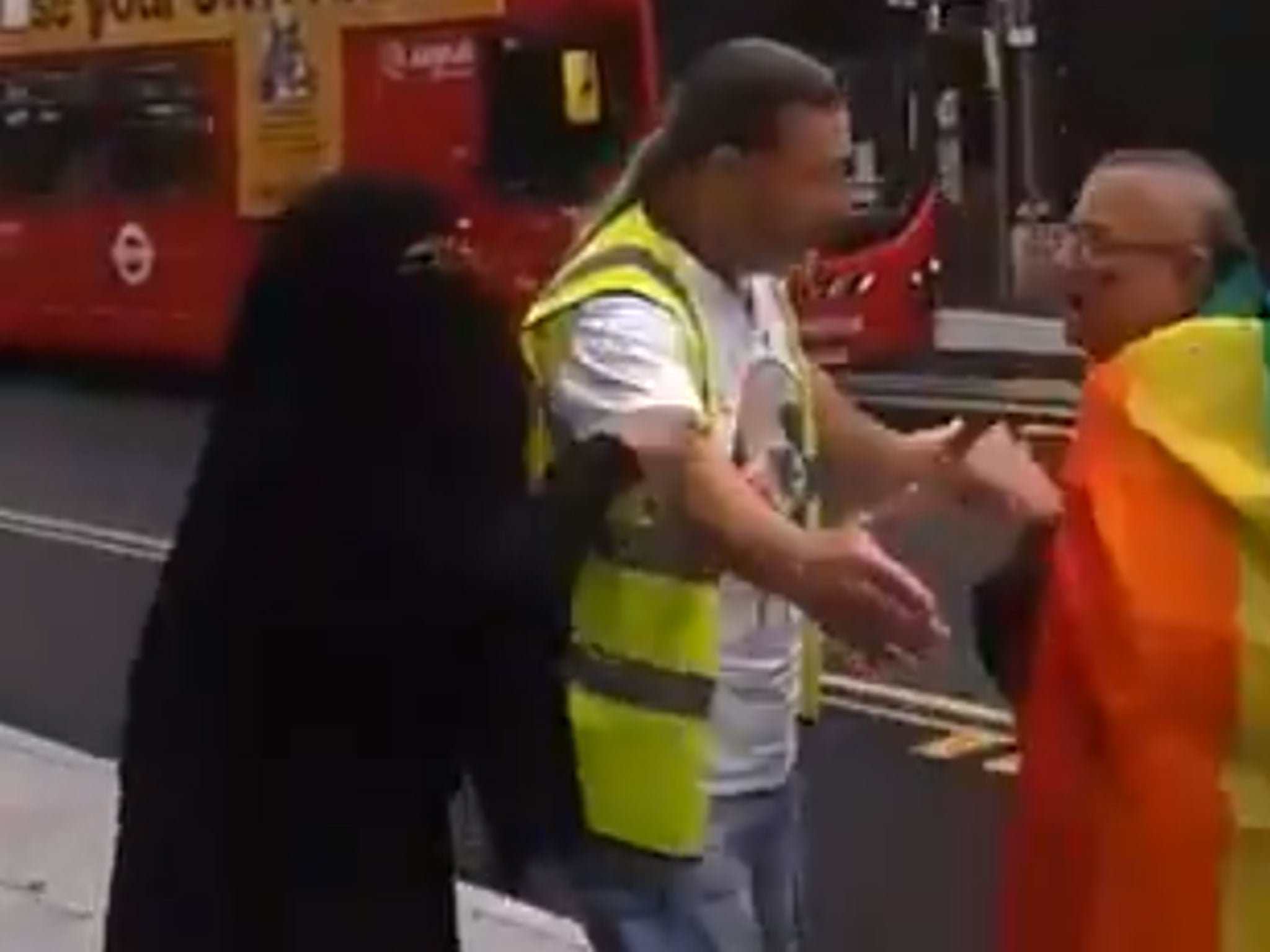 Woman verbally abuses Pride marcher in suspected hate crime in London: 'You despicable people. Shame on you'