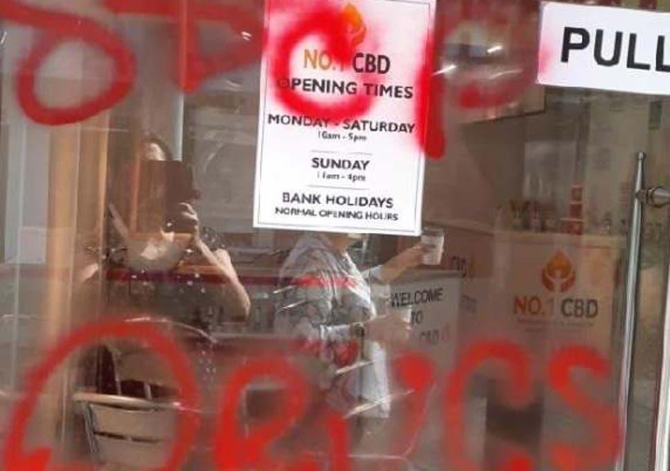 Anti-drug vigilantes smash up CBD food supplement shop | The