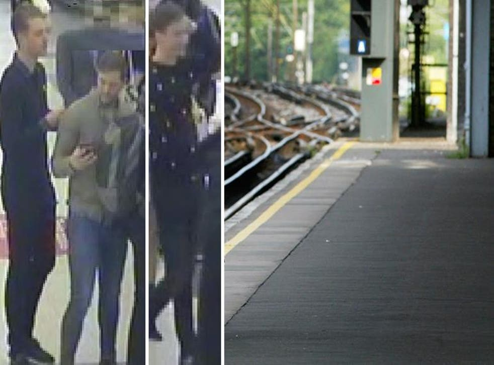 Police are seeking three men, pictured, as part of their investigation