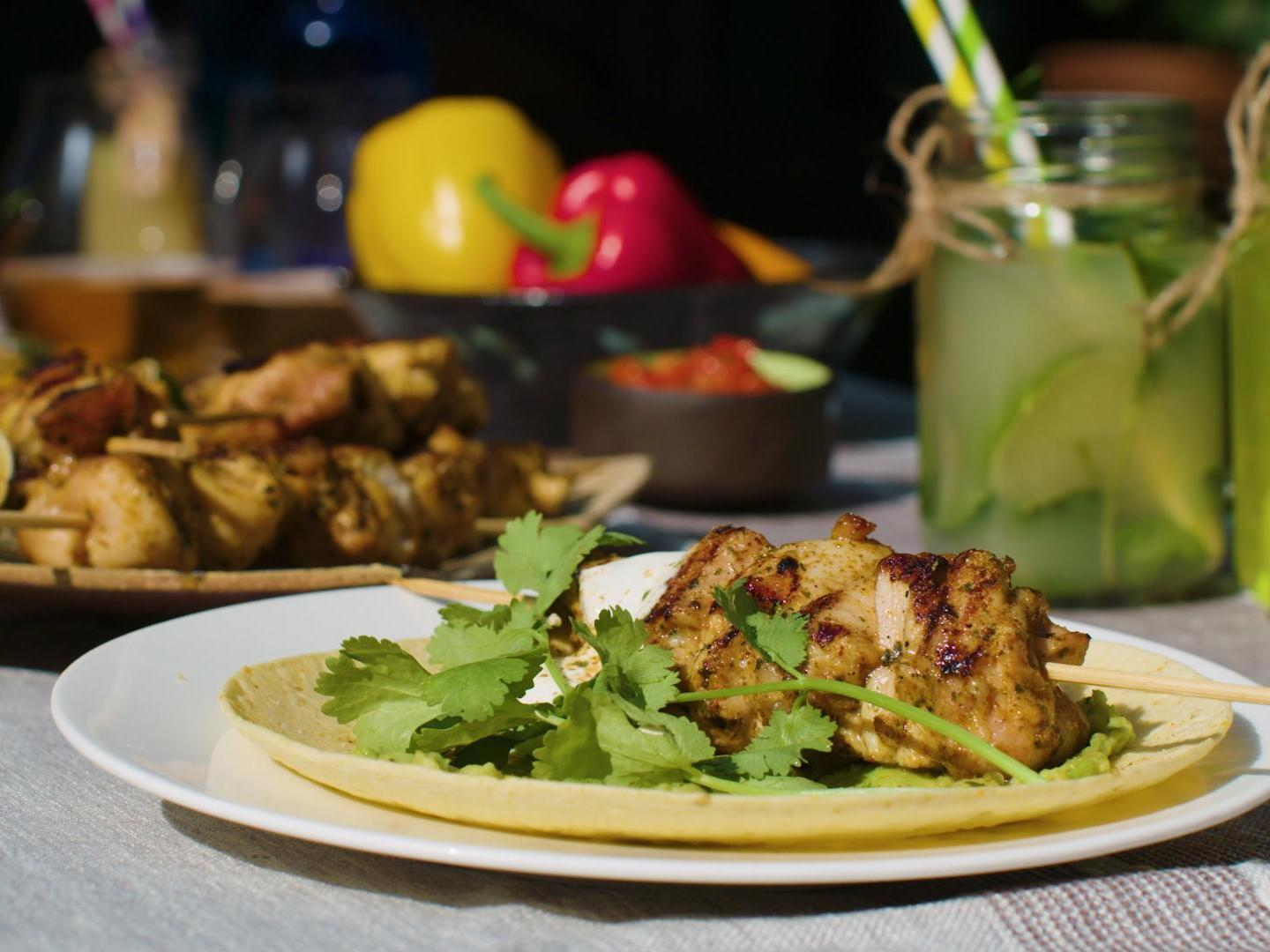 How to make street food-style Mexican chicken skewers 1