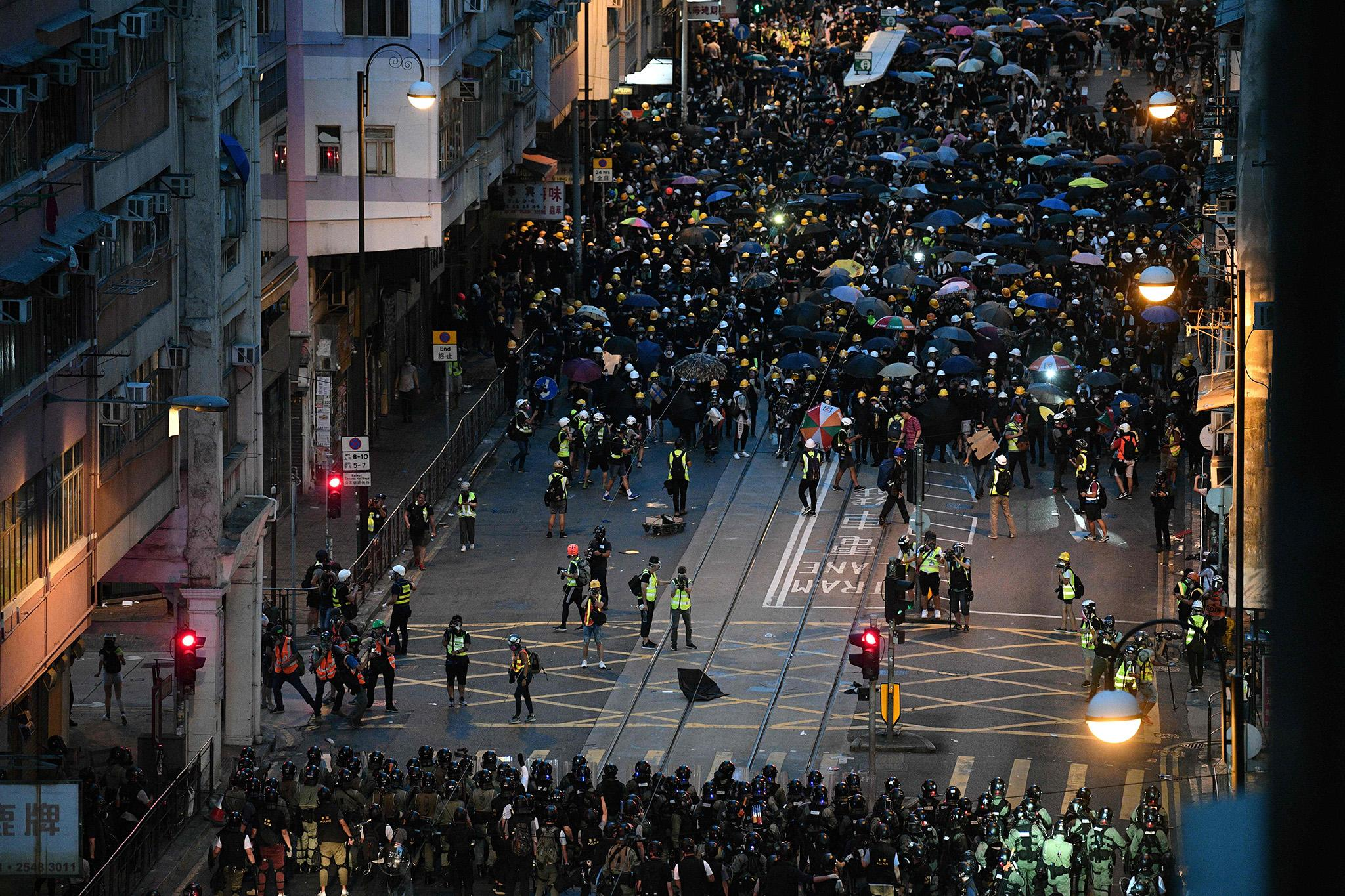City-wide Protests Sinks Hong Kong